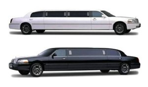 Nice Airport White Black Limousine Lincoln stretch