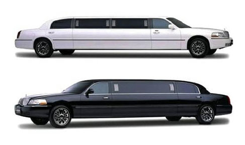Lincoln Limousine Nice Airport White And Black Car With Driver
